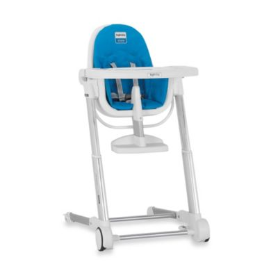 Inglesina Zuma High Chair in White/Light Blue