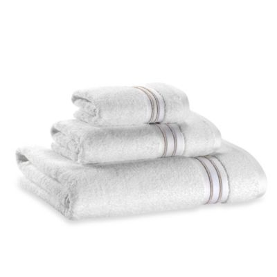 Wamsutta® Hotel Micro-Cotton Fingertip Towel in White/Tan