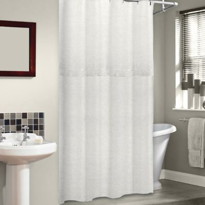 Soho 72-Inch x 75-Inch Linen Shower Curtain in Pearl