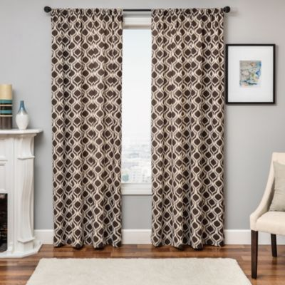 Softlines Molly Ikat 84-Inch Window Panel in Taupe