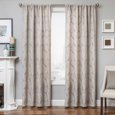 Softlines Reminisce Roxan 84-Inch Window Panel in Pewter
