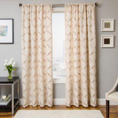 Softlines Reminisce Roxan 84-Inch Window Curtain Panel in Beige