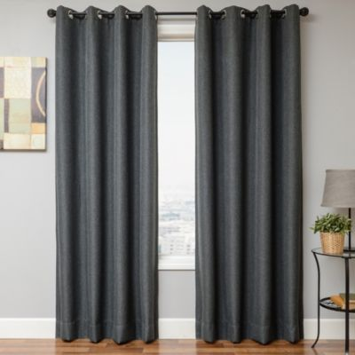 Romi 84-Inch Grommet Top Window Panel in Grey