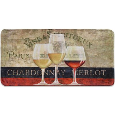 Relaxed Chef Paris Wine Kitchen Floor Mat