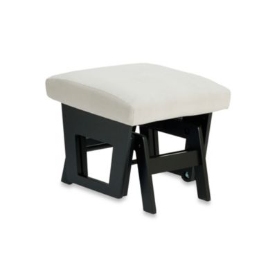 Dutailier® Contemporary Wood Ottoman in Black/Light Grey