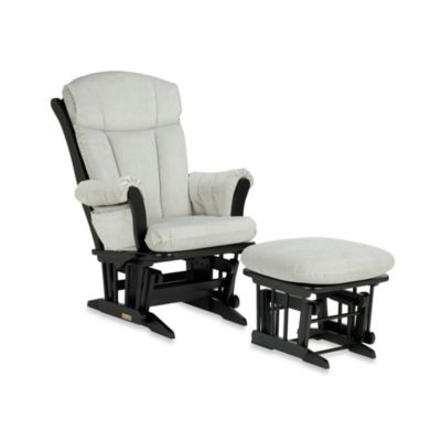 Dutailier® Sleigh Wood Glider in Black/Grey
