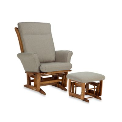 Dutailier® Transitional Grand Wood Glider in Harvest/Beige