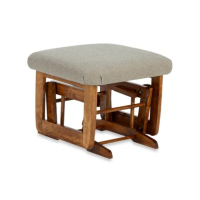 Dutailier® Transitional Grand Wood Ottoman in Harvest/Beige