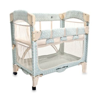 Arm's Reach Mini Arc Co-Sleeper® in Turquoise Geo