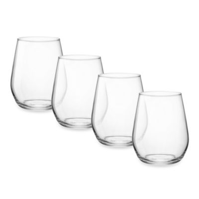 Bormioli Electra 12-3/4 oz. Stemless Wine Glasses (Set of 4)