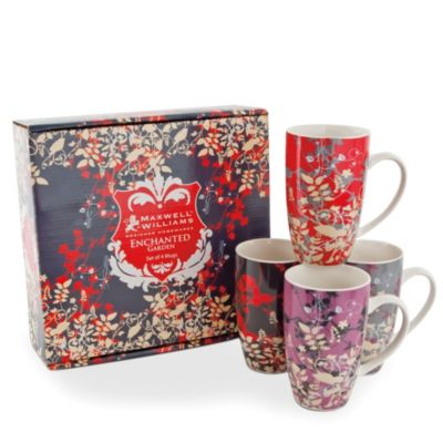 Maxwell & Williams™ 14 oz. Enchanted Garden Mugs (Set of 4)