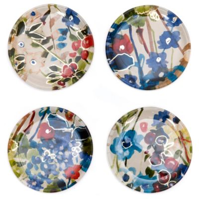 Set of 4 Foiled Glass