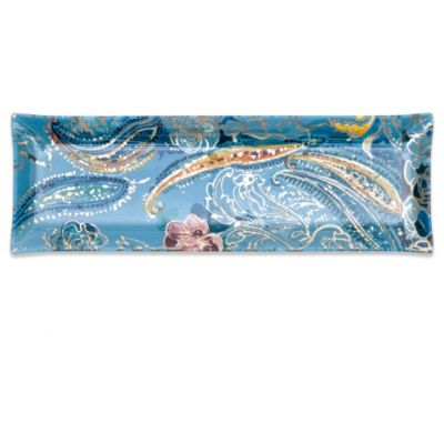 Padma Collection 18-Inch x 6-Inch Rectangular Paisley Platter