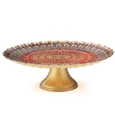 Padma Collection Plum & Berry Footed Cake Stand