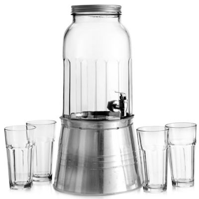 Newport 6-Piece Beverage Dispenser Set