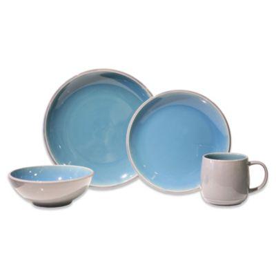 Baum Mercer 16 Piece Dinnerware Set In Blue