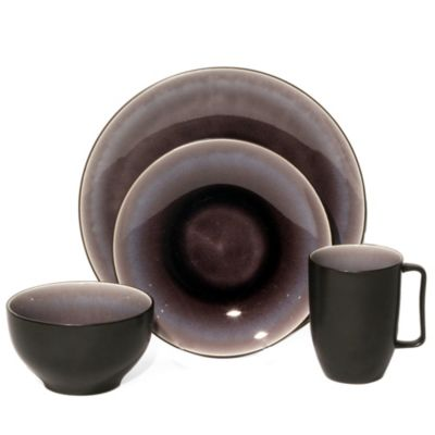 Baum Nuit 16-Piece Dinnerware Set in Plum