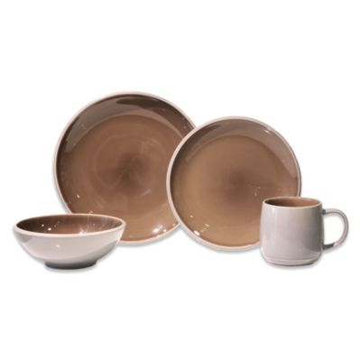 Baum Mercer 16-Piece Dinnerware Set in Mushroom