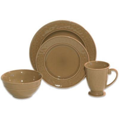 Baum Wellington 16-Piece Dinnerware Set in Taupe