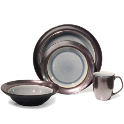 Baum Stellar 16-Piece Dinnerware Set in Grey