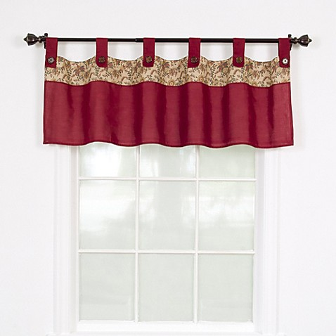 Buy Stanfield Window Valance In Burgundy From Bed Bath