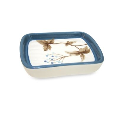 Croscill® Christina Soap Dish in Blue