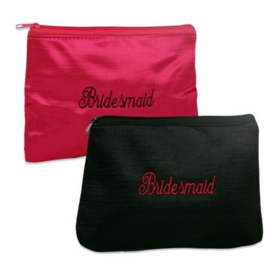 Ivy Lane Design™ Embroidered Bridesmaid Cosmetic Bag in Pink
