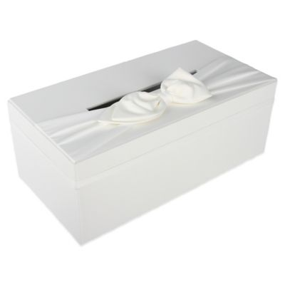 Ivy Lane Design™ Wedding Money Box with Sash in White