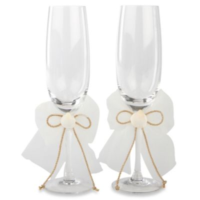 Ivy Lane Design™ Seashore Toasting Flutes (Set of 2)