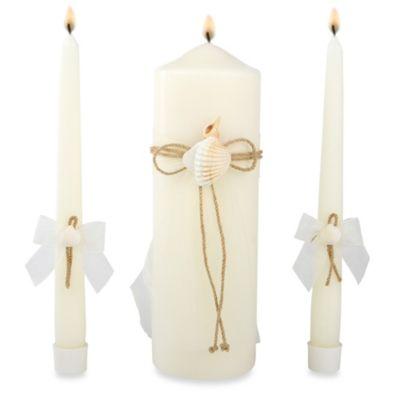 Ivy Lane Design™ Seashore Ivory Pillar Candle Set