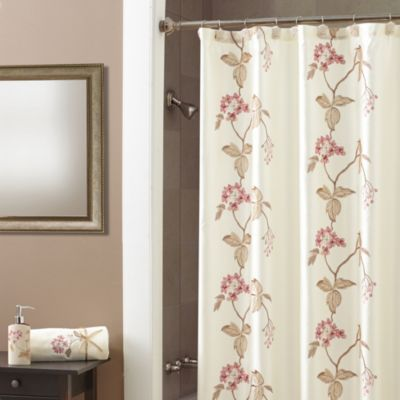 Croscill® Christina Shower Curtain in Rose