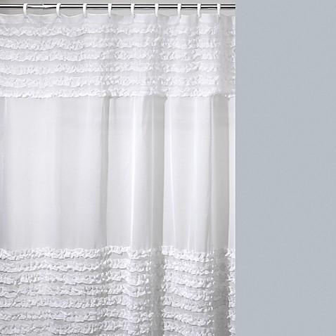 buy creative bath ruffles shower curtain from bed bath creative bath all that jazz shower curtain amp reviews wayfair