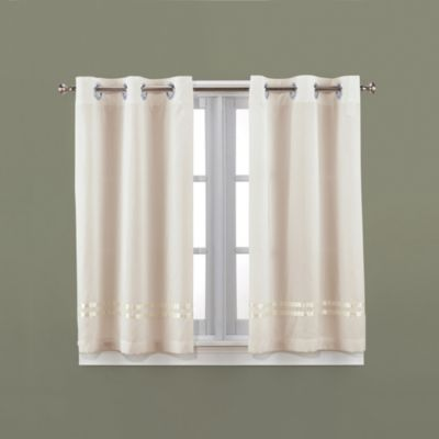 Hookless® Escape 45-Inch Bath Window Curtain Panels in Ivory