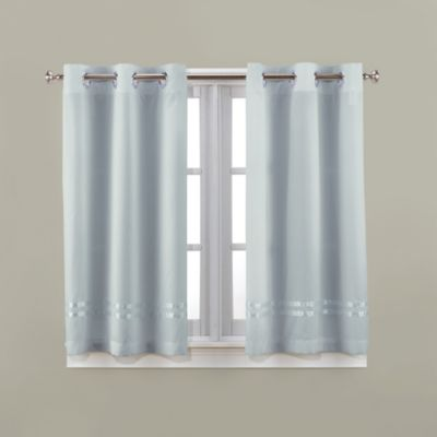 Hookless® Escape 45-Inch Bath Window Curtain Panels in Blue