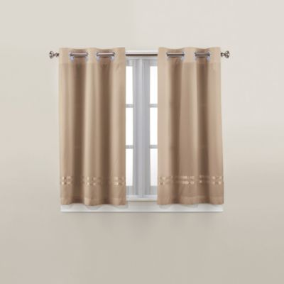 Hookless® Escape 45-Inch Bath Window Curtain Panels in Taupe