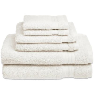 Welspun HygroSoft 6-Piece Towel Set in White