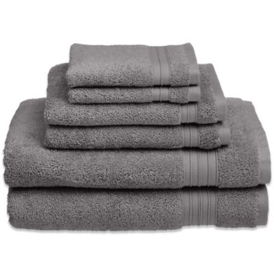 Welspun HygroSoft 6-Piece Towel Set in Glacier