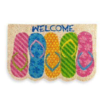 Flip Flop Welcome Door Mat