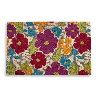 Flower Power Door Mat