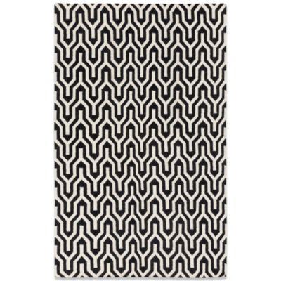 Jill Rosenwald Fallon Flat Weave 2-Foot 6-Inch x 8-Foot Rug in Ebony