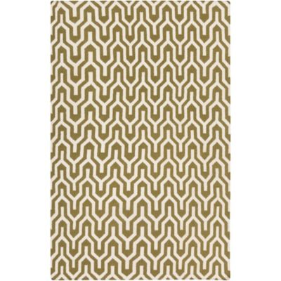 Jill Rosenwald Fallon Flat Weave Rug in Moss