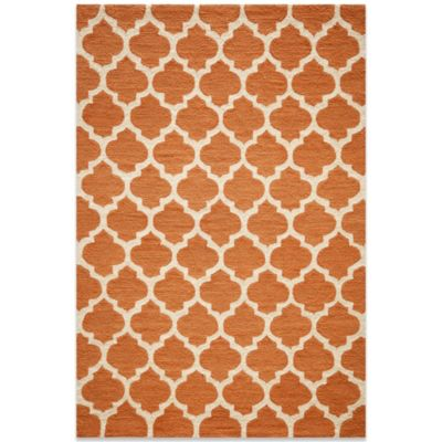 Momeni Geo 2-Foot x 3-Foot Rug in Pumpkin