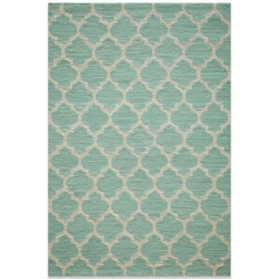 Momeni Geo 7-Foot 6-Inch x 9-Foot 6-Inch Rug in Sky Blue