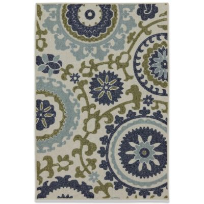 Mohawk Home Savannah 8-Foot x 10-Foot Rug in Blue Multi