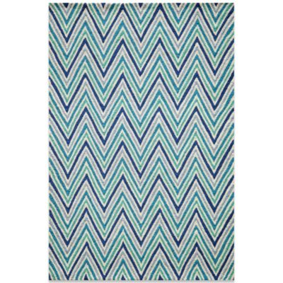 Geo 5-Foot x 7-Foot Rug in Blue