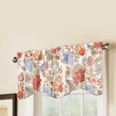 Morganton Printed Valance in Blue