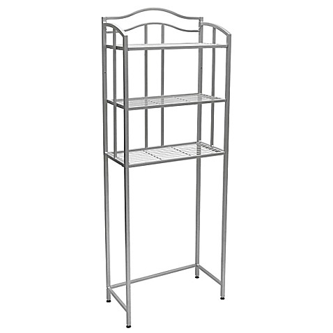 shelf space saver tower in brushed nickel from bed bath beyond