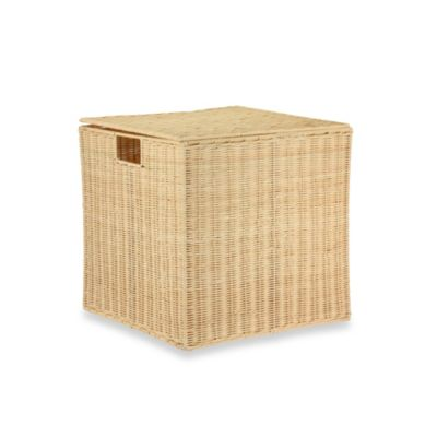Household Essentials® 2-Piece Rattan Nested Box Set with Lid