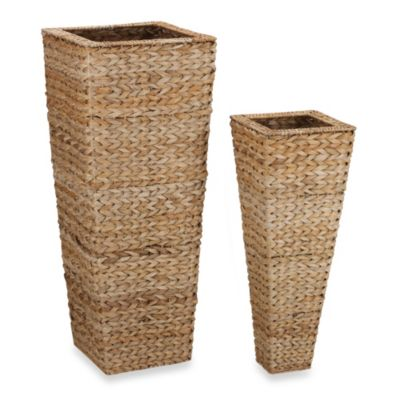 Household Essentials® 2-Piece Banana Leaf Nested Vase Set