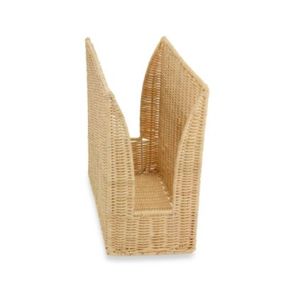 Household Essentials® High-Sided Rattan Magazine Rack
